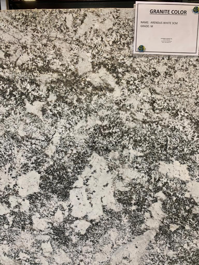 Arendus White Granite Slab 30Mm